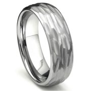 Titanium Kay Tungsten Carbide Hammer Finish Dome Comfort Fit Mens Wedding Band Ring Sz 10.0