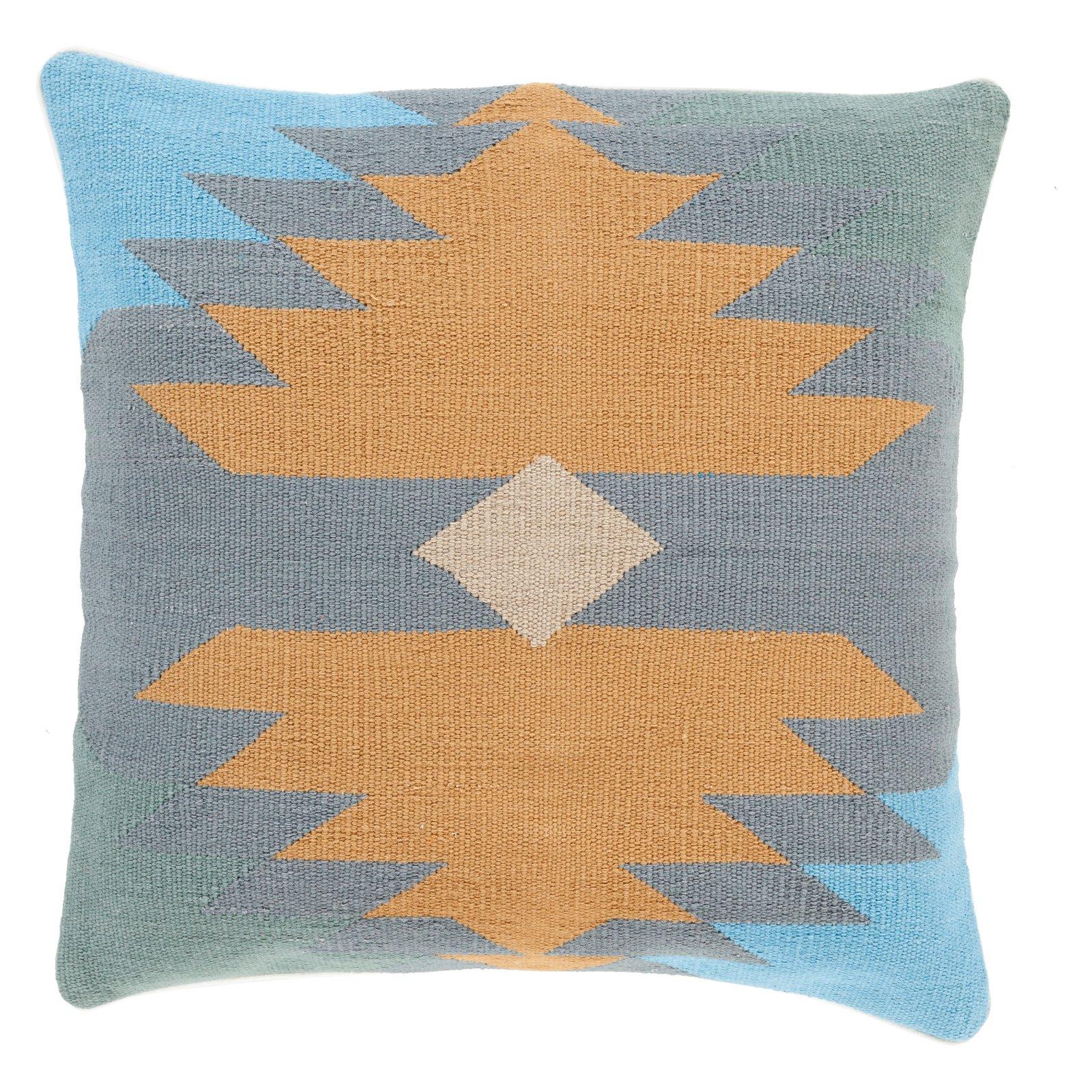Surya Cotton Kilim Decorative Throw Pillow