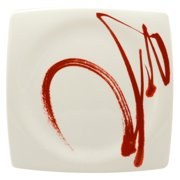 Red Vanilla Paint It Red 10.5 in. Square Dinner Plate - Set of 4