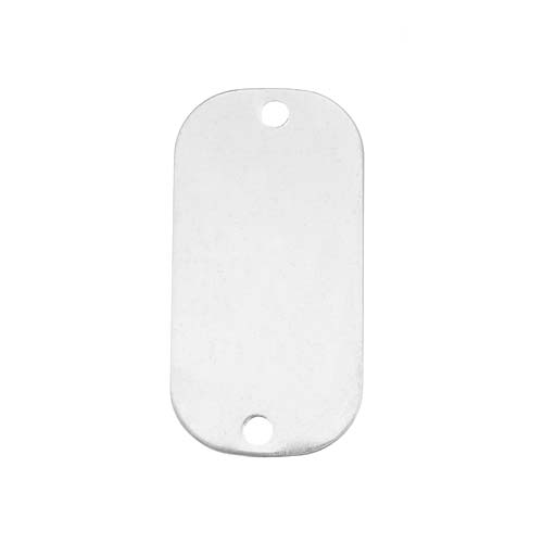 """Sterling Silver Stamping Blank """"Dog Tag"""" Pendant 25 X 13mm (1)"""