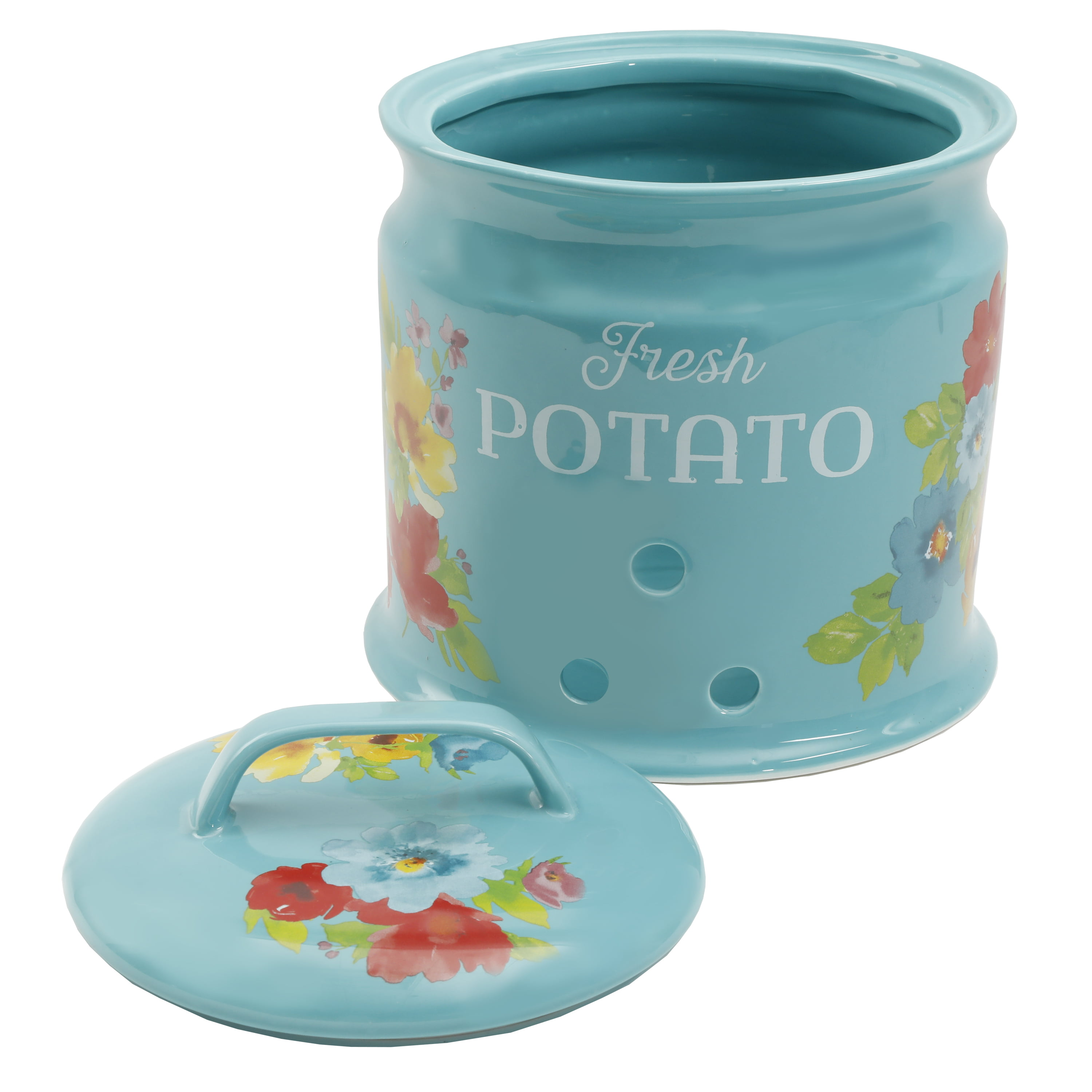 The Pioneer Woman Breezy Blossoms 9.5 Inch Potato Keeper ...