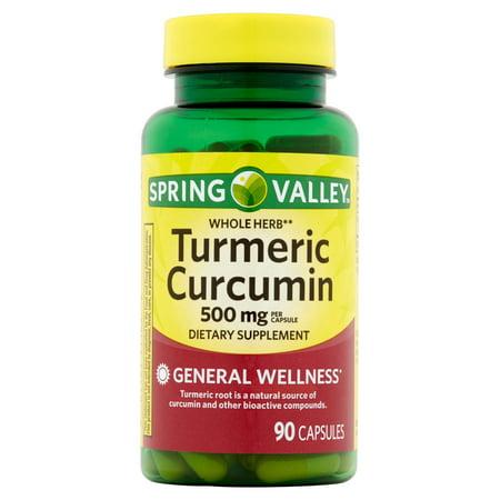 Spring Valley Turmeric Curcumin Herbal Supplement Capsules  500  Mg  90 Ct