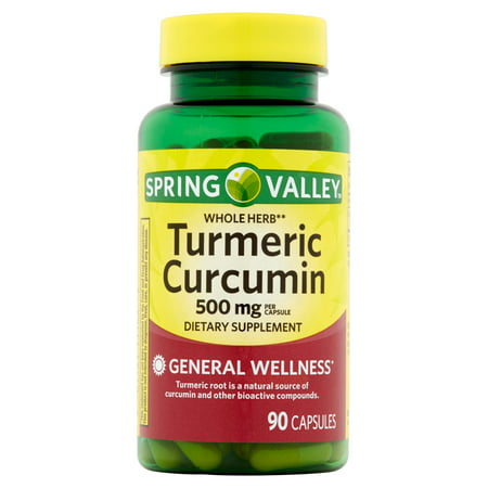 Spring Valley Whole Herb Turmeric Curcumin Capsules, 500 mg, 90 Ct
