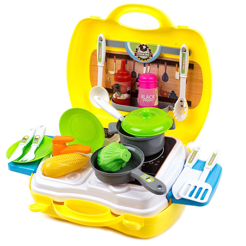 Dream Kitchen Toy: Toysery Dream Pretend Kitchen Play Set Toy Suitcase Kit