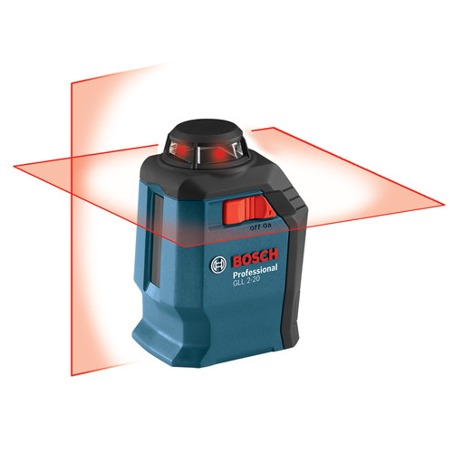 Factory-Reconditioned Bosch GLL2-20S-RT Self-Leveling 360 Degree Line and Cross Laser (Refurbished)