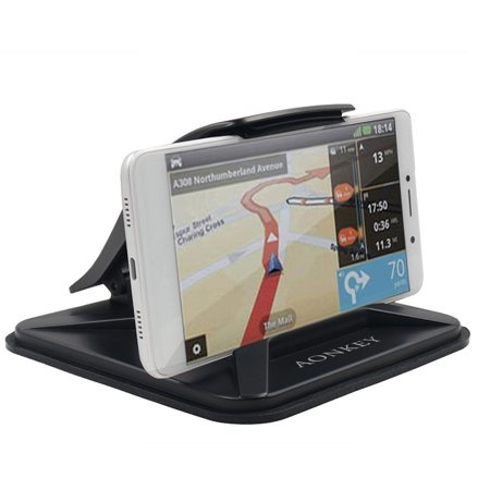 Cell Phone Holder for Car, Dashboard Car Mounts for iPhone X 8 Plus 7 Plus  6 6S Plus, Non-Slip GPS Holder Car Cradles for Galaxy Note 8 S8 Plus S7