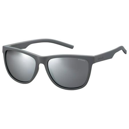 Gray Unisex Sunglasses - PLD 6014/S 035W JB Gray 56mm Polaroid PLD 6014/S Square Unisex Polarized Sunglasses