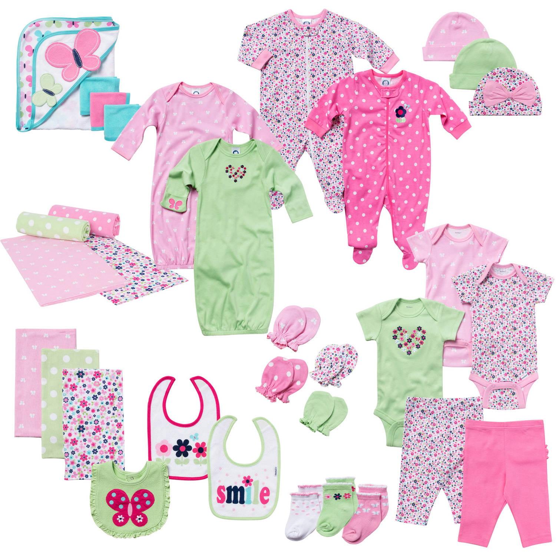 1aff3d226bdc Gerber - Newborn Baby Girl 33-Piece Perfect Shower Gift Layette Mega ...