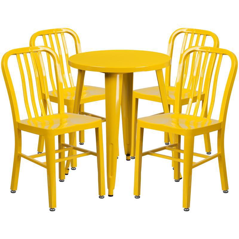 24RD Yellow Metal Table Set - image 2 de 6