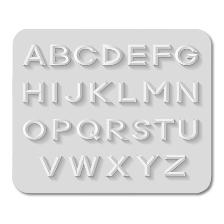 Character Bundle (LADDKE Abstract White Bundle Emboss Alphabet Metal Character Mousepad Mouse Pad Mouse Mat 9x10 inch )