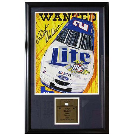 NASCAR Rusty Wallace Game Used Frame, 12x18 ()