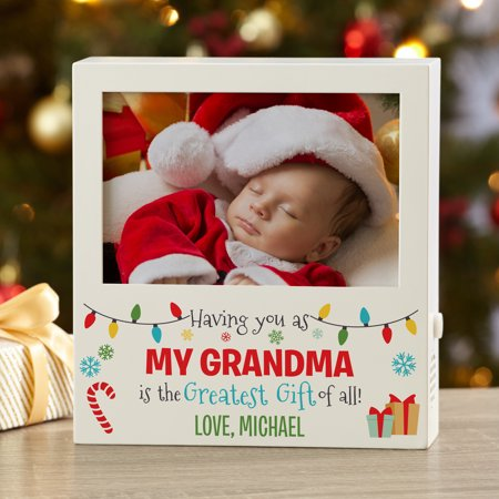 Personalized Greatest Gift Recordable Christmas Frame ()
