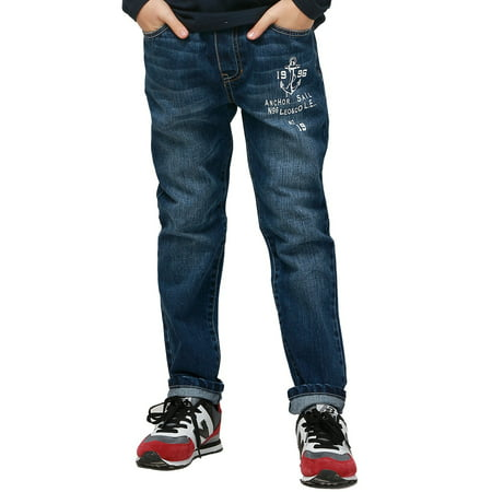Leo&Lily boys Husky Waist Regular Fit Thin Jeans Pants