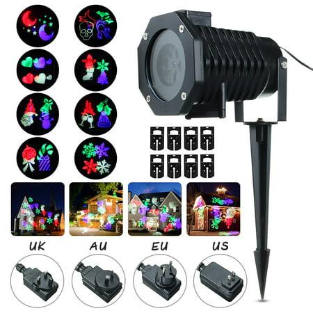 Ac 100-240v 12w 10 Pattern Projector Light Led Spotlight Outdoor Landscape Lighting For Halloween Xmas Christmas Party Laser Lighting - Halloween Landscape Lights