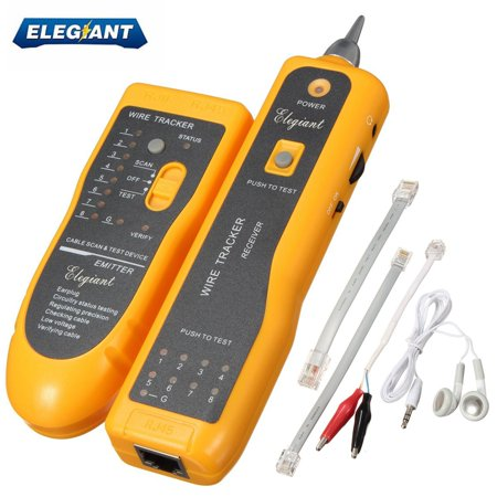 ELEGIANT Handheld Line Finder Telephone Phone RJ45 RJ11 Computer Wire Tracker Ethernet LAN Cable Tester