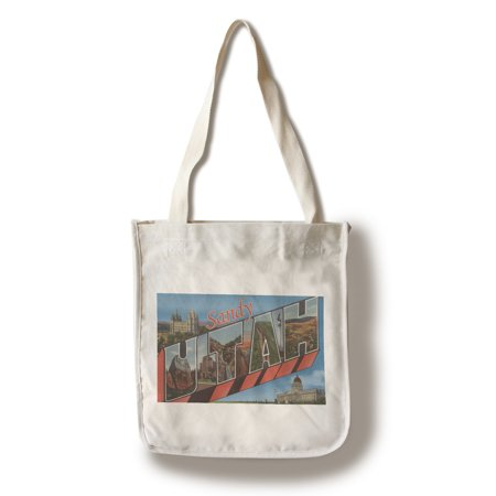 Sandy, Utah - Large Letter Scenes (100% Cotton Tote Bag - Reusable) for $<!---->