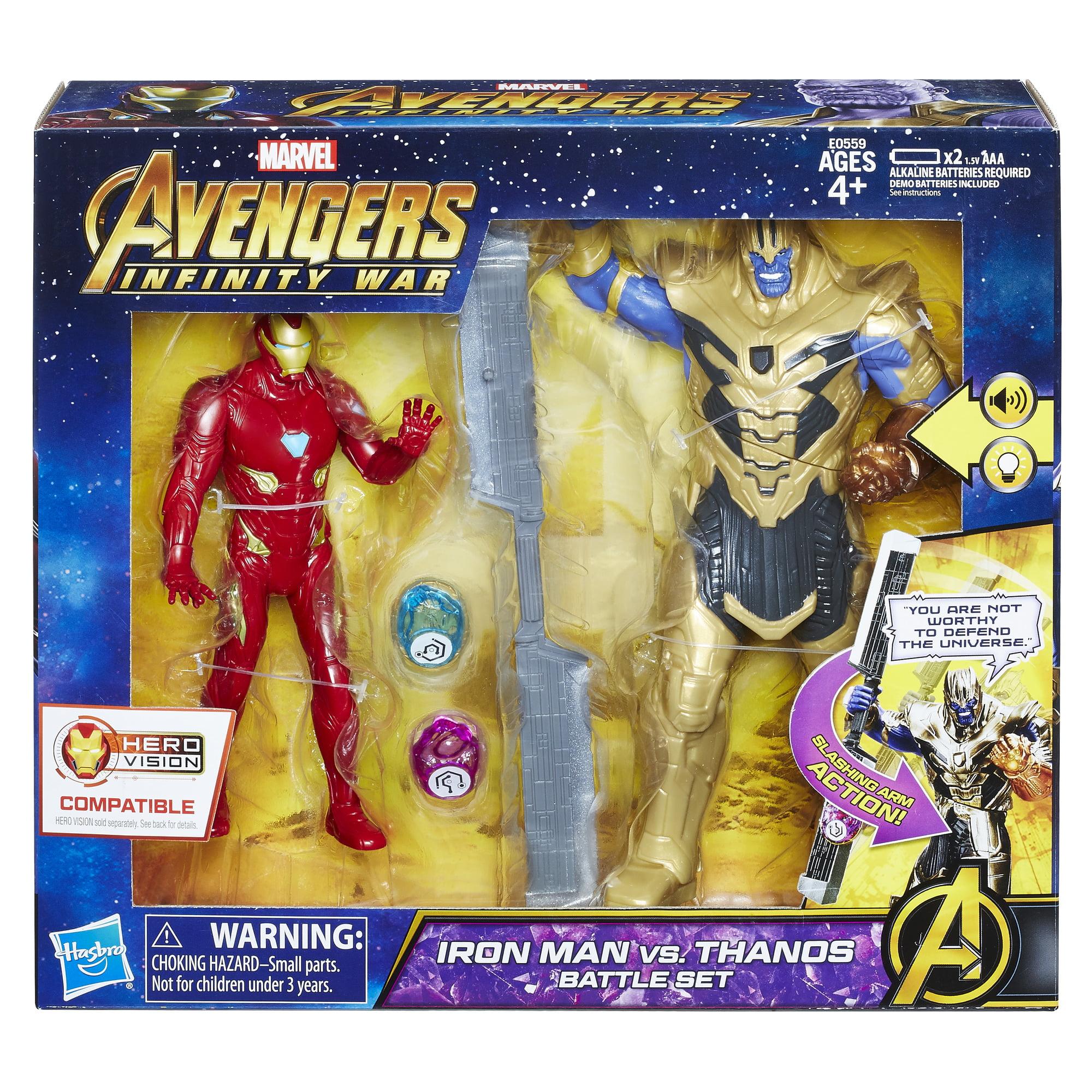 Marvel Avengers  Infinity War Iron Man vs. Thanos Battle Set - Walmart.com c8b70781777