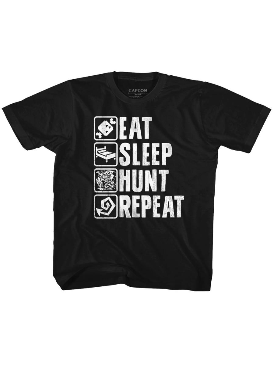 Monster Hunter Video Game Eat Sleep Hunt Repeat Toddler T-Shirt Tee