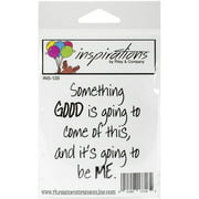 "Riley & Company Inspirations Cling Stamp 2.5""X2.75""-Something Good"