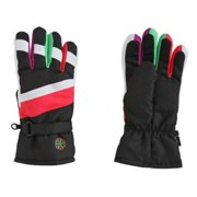 Aquarius Girls Multicolor Pink Purple Green Rainbow Thinsulate Snow & Ski Gloves