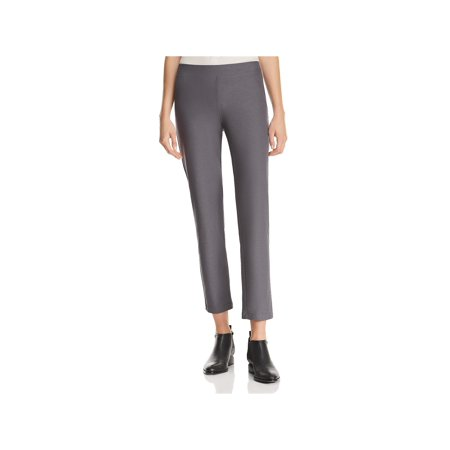 Eileen Fisher Womens Crepe Comfort Waist Ankle Pants