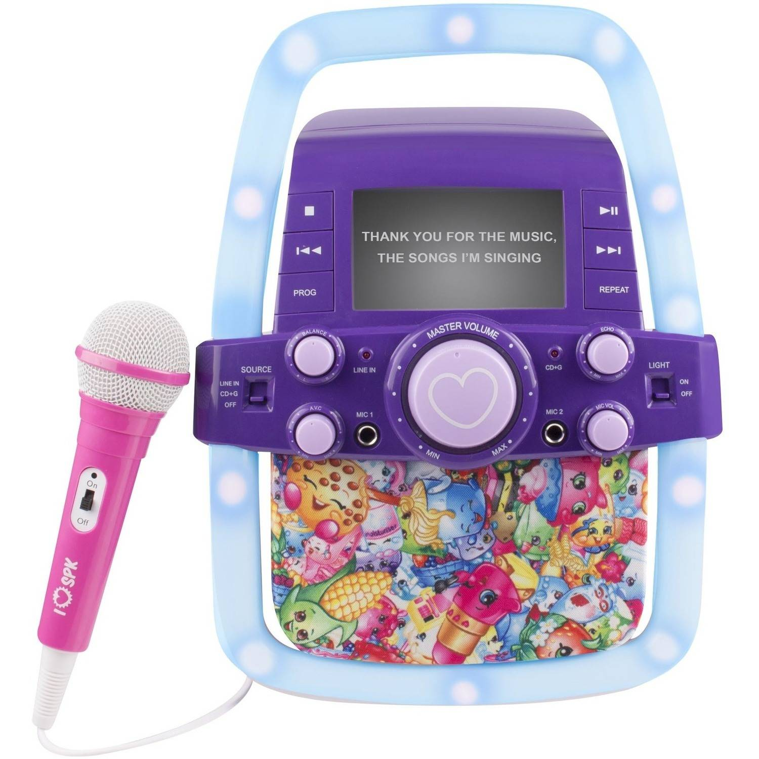 Shopkins Light up Karaoke with Screen by Sakar International- http://www.sakar.com