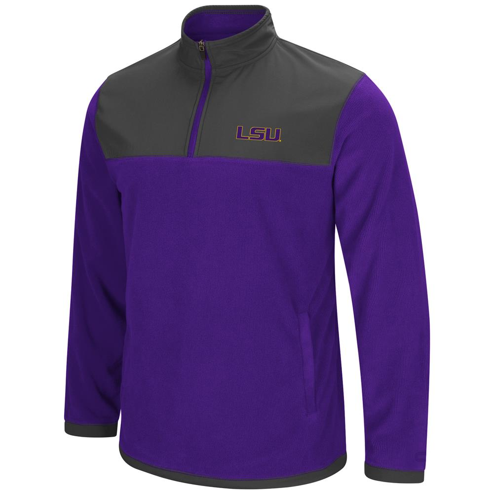 LSU Tigers Louisiana State Men's Full Zip Fleece Jacket