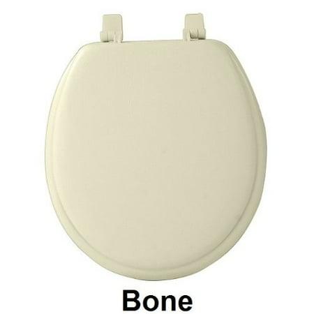 Park Avenue Collection Fantasia 17 Inch Bone Soft Standard Vinyl Toilet Seat