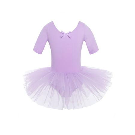 Girls Cross Back Cotton Tulle Ballet Dance Tutu Dress School Performance Dancewear