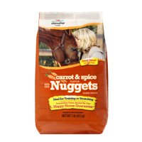 Manna Pro Bite Size Nuggets Horse Treats, Carrot & Spice, 1 lb.