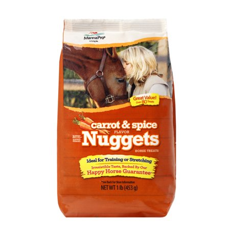 Manna Pro Bite Size Nuggets Horse Treats, Carrot & Spice, 1