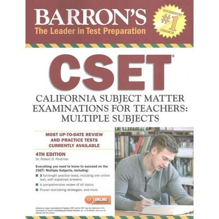 Barron's CSET: California Subject Matter Examinations for Teachers: Multiple Subjects