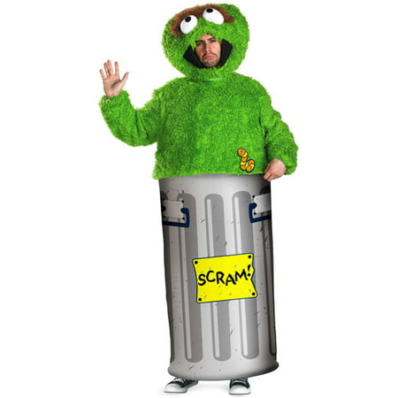 Oscar the Grouch Adult Halloween Costume - Top 10 Halloween Costumes For Adults 2017