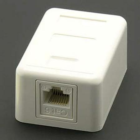 Dalco Cat 6 1-Port White Surface Mount Box w/Jack (Surface Mount Box 6 Port)