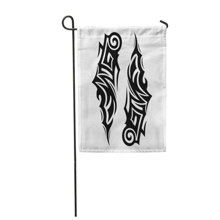 LADDKE Abstract Tattoos Ideas Designs C Tribal Pattern Ankle Arm Garden Flag Decorative Flag House Banner 28x40 inch ()