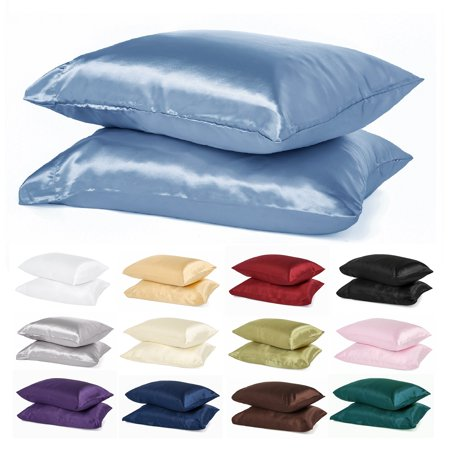 Paisley Satin Pillowcase - Renoir Fashion Super Soft Satin Pillowcases (a pair/package)