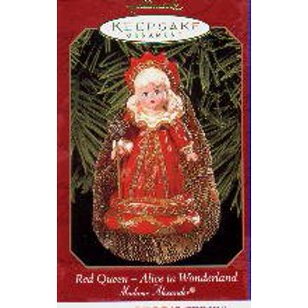 This is the fourth in the Madame Alexander Series from Hallmark ornaments. It is the Red Queen from Alice in Wonderland - Queen From Alice In Wonderland