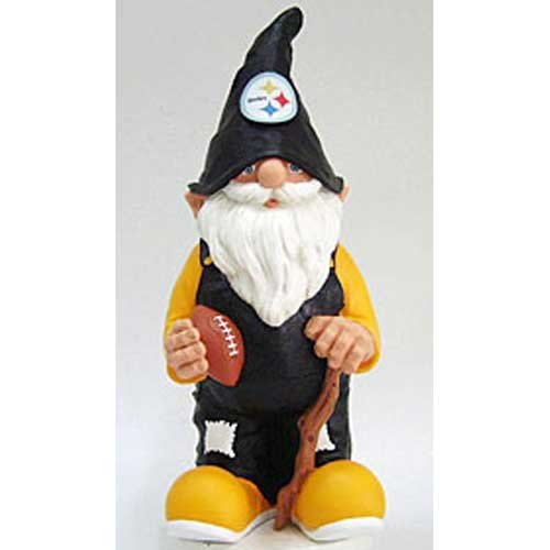 Forever Collectibles 111910 Team Garden Gnome- Steelers, 111910 Garden Hatter Mad Beans Forever Steelers NFL... by