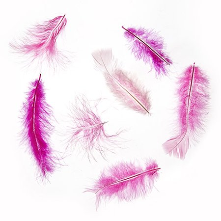Create a cute pin for your shawl or hat with these pink marabou feathers. Add ribbon and a gem to the pin for a complete piece. ()