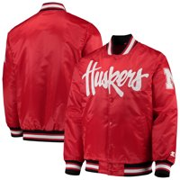 Nebraska Cornhuskers Starter O-Line Varsity Full-Button Satin Jacket - Scarlet