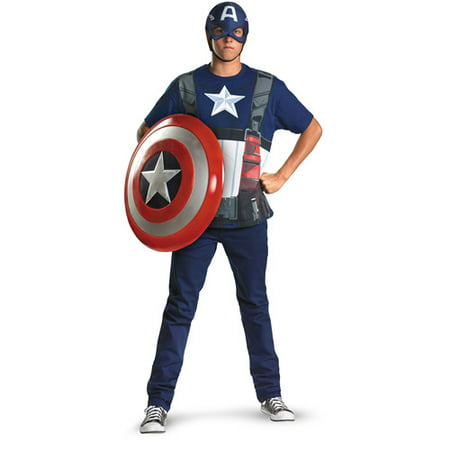 Captain America Movie Alternative Adult Halloween Costume - Captain America Costume Adult