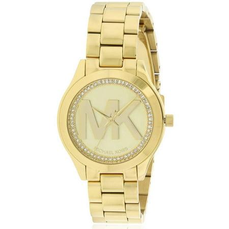 3df0919799a Michael Kors - Mini Slim Runway Gold-Tone Women's Watch, MK3477 -  Walmart.com
