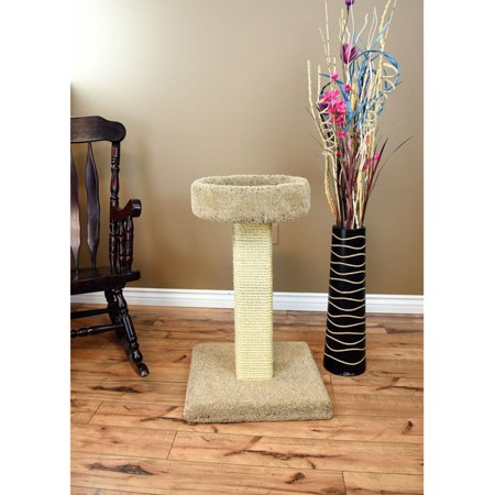 Prestige Cat Trees 32 in. Solid Wood Large Cat Scratching Post and Sleeper Tree Cat Wood Scratching Post