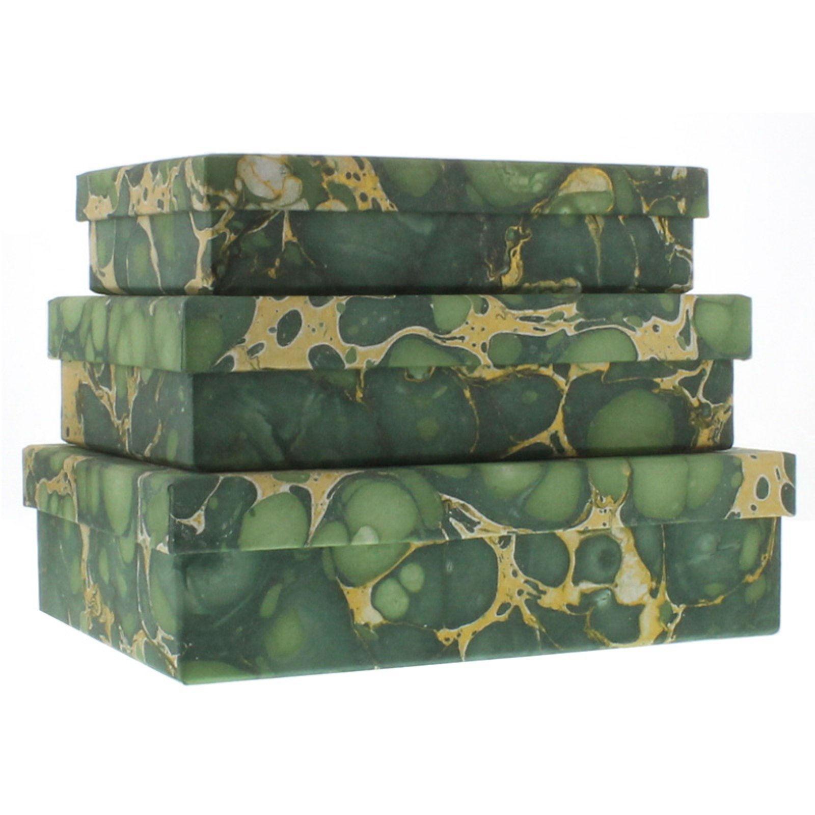 Marbleized Paper Nesting Boxes - Set of 3