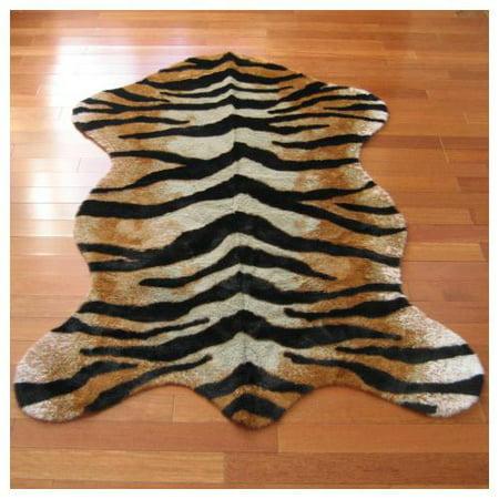 Walk On Me Rugs Faux Tiger Skin Pelt Rug 3 X