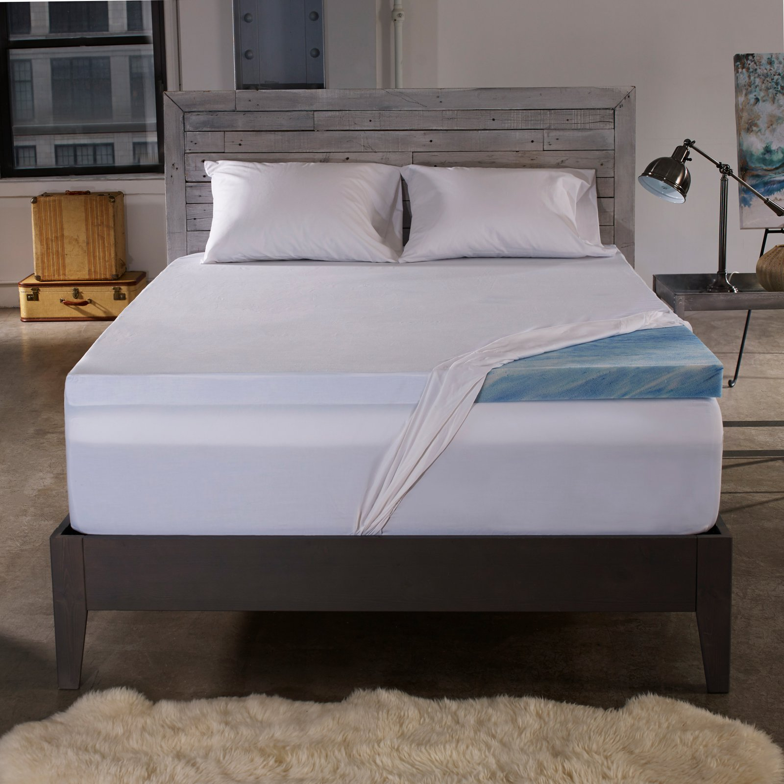 Sleep Innovations 2.5 in. Gel Memory Foam Mattress Topper with Cover