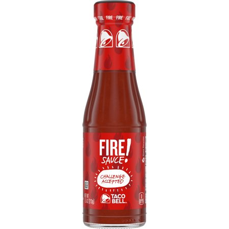 (3 Pack) Taco Bell Fire Sauce, 7.5 oz