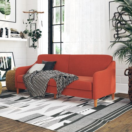 Amazing Dhp Jasper Sofa Bed Burnt Orange Machost Co Dining Chair Design Ideas Machostcouk