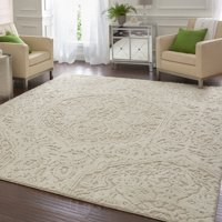 Mohawk Home Francesca Farmhouse Area Rug, Cream, 8' x 10'