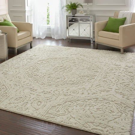 Mohawk Home Francesca Area Rug, Cream ()